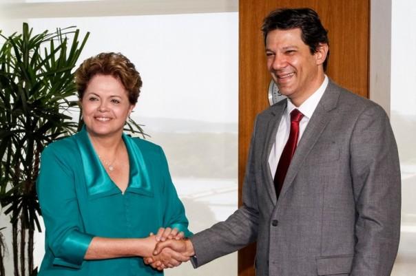 Haddad e Dilma/ foto: Roberto Stuckert Flho - PR