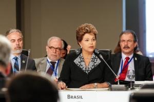 Presidente Dilma durante a conferência/ foto: Roberto Stuckert Filho - PR / blogdofilipe.com