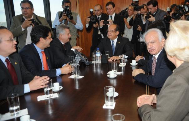 Ministro Gilmar Mendes durante encontro com senadores / foto: Jose Cruz - ABr