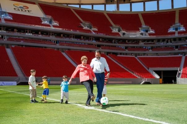 Presidente Dilma Rousseff durante a inauguração do estádio/ foto: Ricardo Stuckert - PR