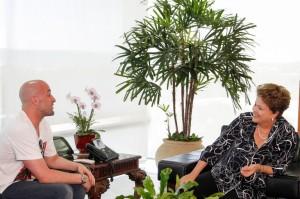 A presidente Dilma com o ator Paulo Gustavo/ foto: Roberto Stuckert Filho - PR